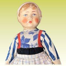 German Bing Boy Art Cloth Doll