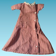 Antique Gingham Old Doll Dress