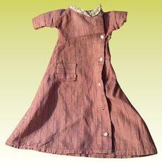 Antique Gingham Old Doll Dress