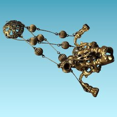 Ehard and Sohne Miniature German Ormolu Miniature Chandelier