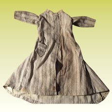 Antique Early Calico Hand Sewn Doll Dress