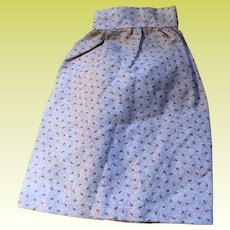 Antique Pink Calico Hand Sewn Doll Skirt