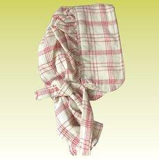 Old Gingham Cotton Doll Bonnet
