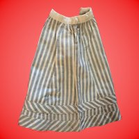 Antique Cotton Pin Striped Doll Skirt