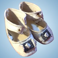 Antique Keystone French Fashion Leather Doll Shoes