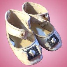 Antique Keystone French Fashion Leather Doll Shoes