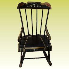 Old Miniature Painted Pennsylvania Dutch Salesmen Sample Doll Chair