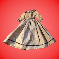 Old Calico Hand and Machine Done Doll Dress