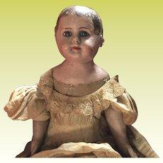"""Antique Ella Smith Indestructible 22"""" Alabama Baby Doll"""