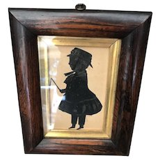 Antique 19th Century Rosewood Framed Silhouette