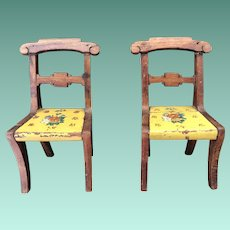 Tynietoy Hand Painted Set Of Victorian side Chairs