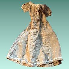 Antique Early Polka Dot Doll Dress