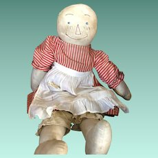 Early Stitched Face Homemade Cloth Raggedy