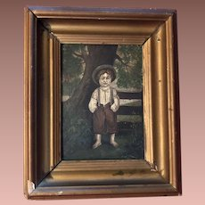 Antique Victorian Oil Painting On Artist Board