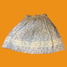 Antique Calico Lace Trimmed Doll Skirt