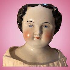 Antique German 1860's China Head Doll