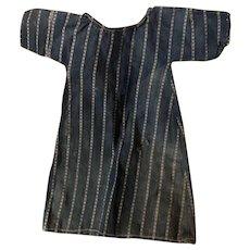 Antique Blue Indigo Striped Frock Doll Dress
