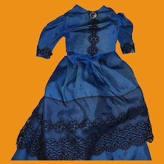 Antique Victorian 2 Piece Fashion Doll Dress Outfit