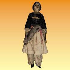 "Antique German Miniature 5-1/2"" Milliner Model Dollhouse Doll"