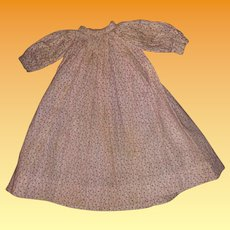 Antique Calico Early Doll Dress