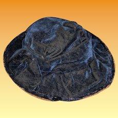 Antique Velvet Early Fashion Doll Hat