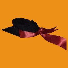 Black Velvet Fashion Doll Hat