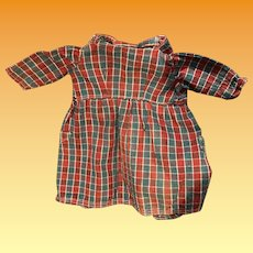 Early Pa Plaid Two Pocket Doll Dress