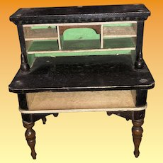 Antique Biedermeier Dollhouse Miniature Secretary Desk
