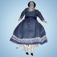 Antique German Miniature Dollhouse China Head Doll