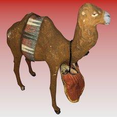 Antique German Paper Mache Stick Leg Camel