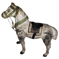 Antique German Putz Paper Mache Miniature Horse
