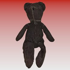 Antique American Black Teddy Bear Baby Bear With Tail