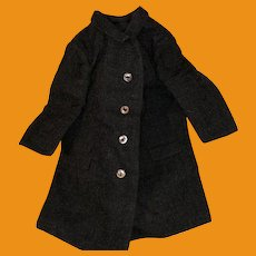 Antique Wool Lined Navy Doll Overcoat