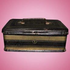 Antique Miniature French Fashion Doll Cash Box