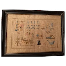 Antique Ohio Reversible Child's Sampler