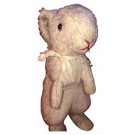 Antique Mohair Straw Stuffed Standing Bunny Rabbit