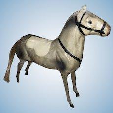 Antique German Paper Mache Victorian Miniature Rocking Horse