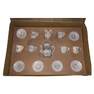 Antique Victorian Rare German  Fashion Doll Miniature Tea Set