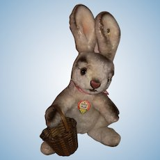 Vintage Plush Steiff Bunny Rabbit With Button