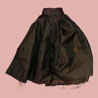 Antique Sateen Green Doll Skirt