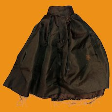 Antique Sateen Green Doll Skirt