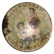 Antique Miniature Lithogragh Papered Trinket Box