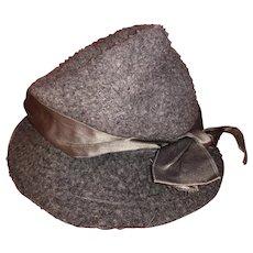 Antique Wool Fashion Doll Or Teddy Bear Hat