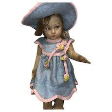 Lenci 1920's Felt Cloth Doll
