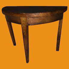 Tynietoy Demilune Table With Mahogany Finish
