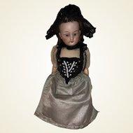 """Antique German 6-1/2"""" Bisque Head Doll"""