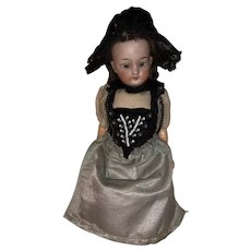 "Antique German 6-1/2"" Bisque Head Doll"