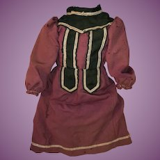 Antique Early 19th Century Doll Dress