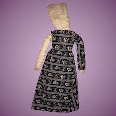 Antique Early Folk Art 19th Century Cloth Rag Doll