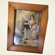 Antique Victorian Framed Engraved Lithogragh